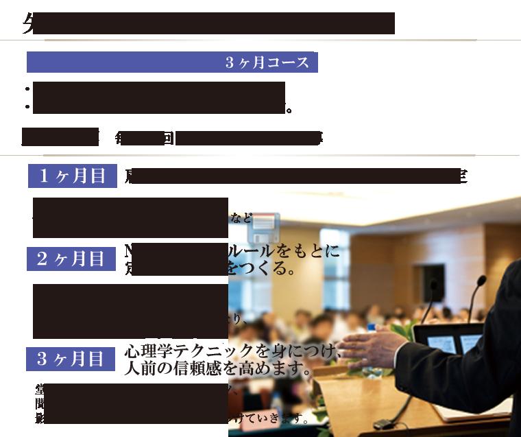 矢野香 3ヶ月個別コンサルティング ・1回2時間×3回・既存のカリキュラムにそって進めます。